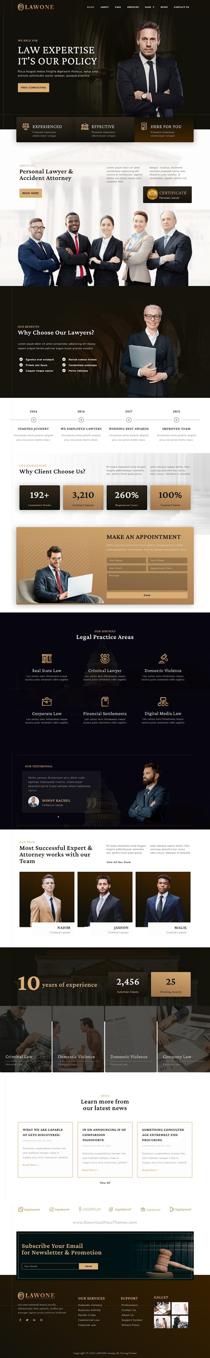 Legal & Law Firm Elementor Template Kit