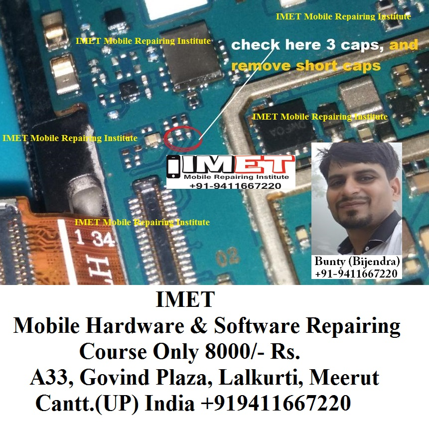 Samsung G531F Display LCD Light Problem Solution Jumper Ways - IMET