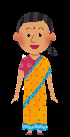 インド人女性のイラスト