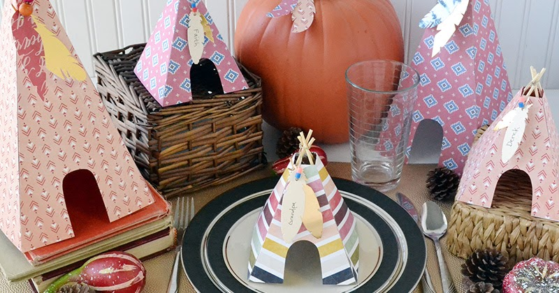Easy Teepee Thanksgiving Centerpieces Craft