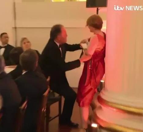 UK politician filmed grabbing Greenpeace protester