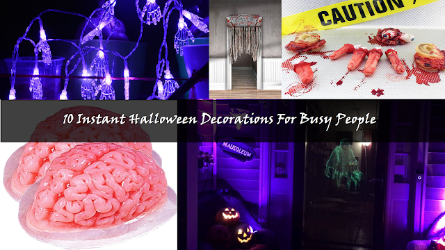 Instant Halloween Decorations, DIY, arts and crafts, design, Halloween, trick or treat, scary, creepy, spooky, brains, zombies, horror, killer, slasher