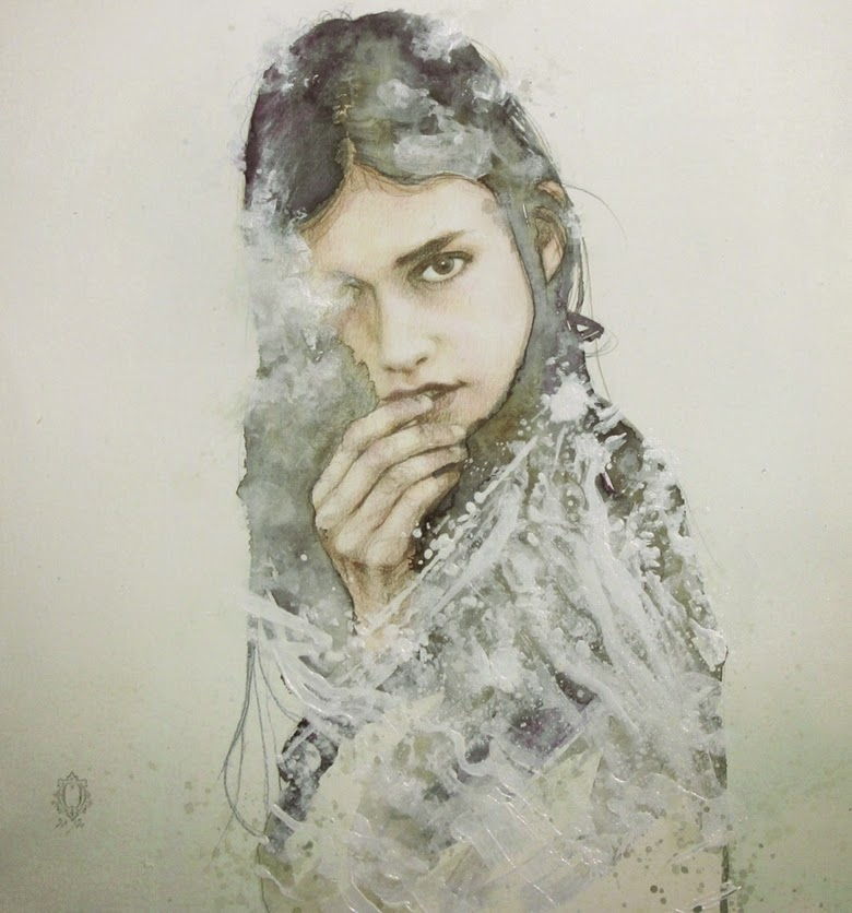 12-Oriol-Angrill-Jordà-Double Exposure-Watercolor-Paintings-www-designstack-co