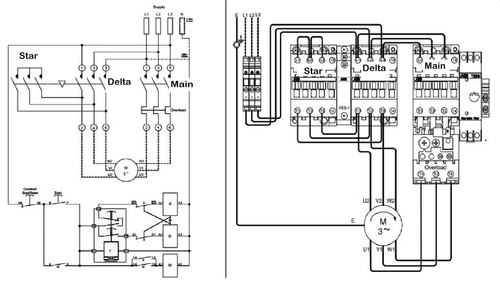 StarDelta Starter Connection Diagram  Electrical Blog