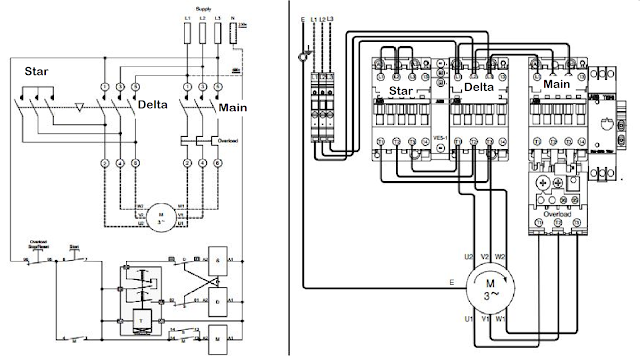 Star Delta%2BStarter electrical page star delta starter connection diagram