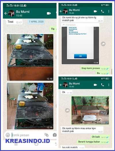 Panggangan Mpek-mpek Stainless pesanan Bu Murni di Tanjung Priok Jakarta