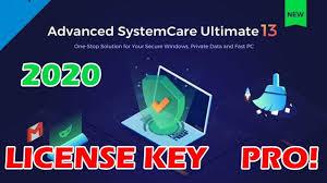advanced systemcare ultimate 13 pro license key 2020   advanced systemcare pro 13.7.0.30 License key