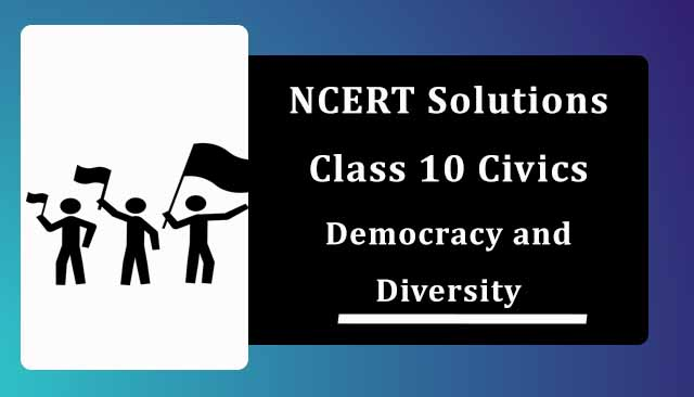 NCERT Solutions for Class 10 Political Science Chapter 3 Democracy and Diversity