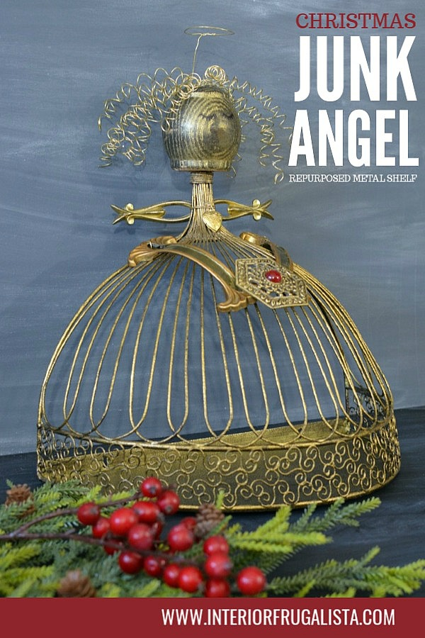 Repurposed Metal Sconce Christmas Junk Angel
