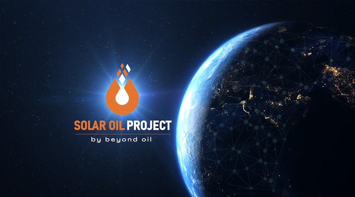 Token de criptomoneda del proyecto de petróleo solar