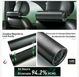 Car Headrest Air Freshening Purifying Device