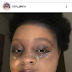 Yehh: Nigerian Little Girl, Faridah flaunts her never ending make-up skills on herself but she forgot just one thing [Can you figure it out]