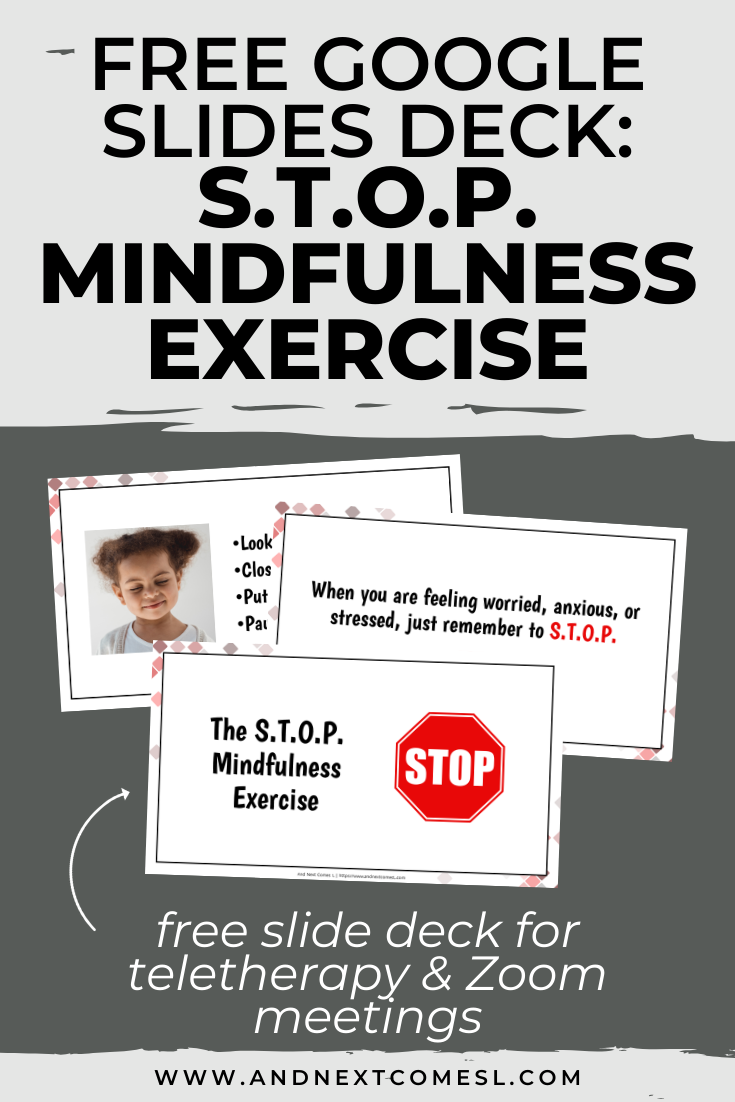 Free Google Slides activity for teaching mindfulness to kids