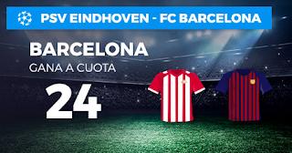 Paston Megacuota champions PSV vs Barcelona 28 noviembre