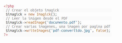 convertir PDF a  JPEG con php