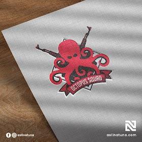 Desain Logo Octopus Squad