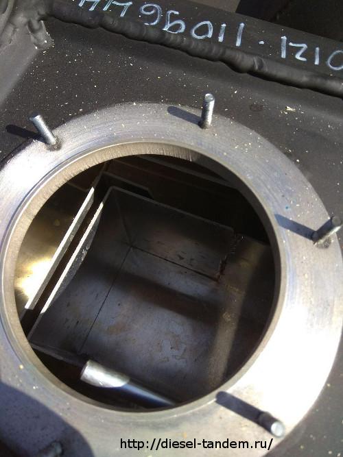 Алюминиевый бак на Паджеро фланец топливозаборника.