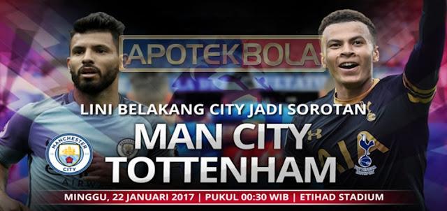 Prediksi Pertandingan Manchester City vs Tottenham Hotspur 22 Januari 2017
