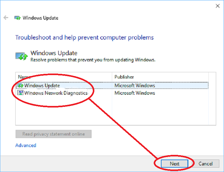WindowsUpdateTroubleshooter