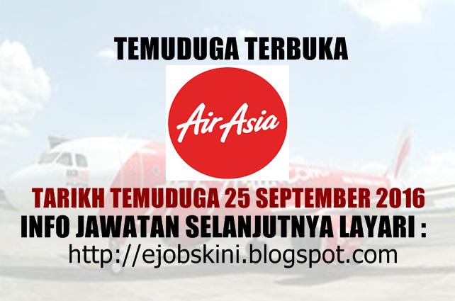 temuduga terbuka di airasia september 2016