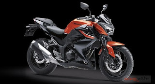 Kawasaki Z250 ABS Sport Motorcycle Orange Color