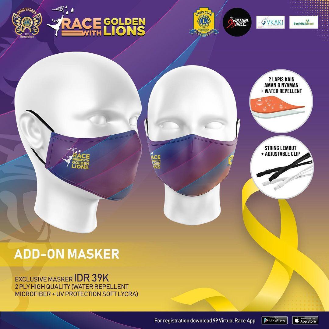 Masker 😷 Race with Golden Lions • 2021