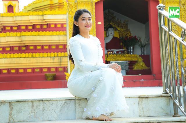 မြန်မာဆန်ဆန် လှနေတဲ့ မမသင်ဇာရဲ့ အလှမှာ ကျရှုံးနေပါပြီနော်