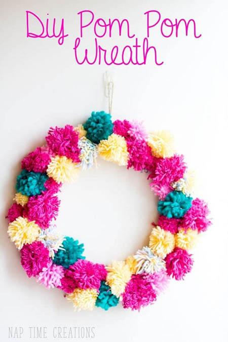Life Sew Savory - Spring Pom Pom Wreath
