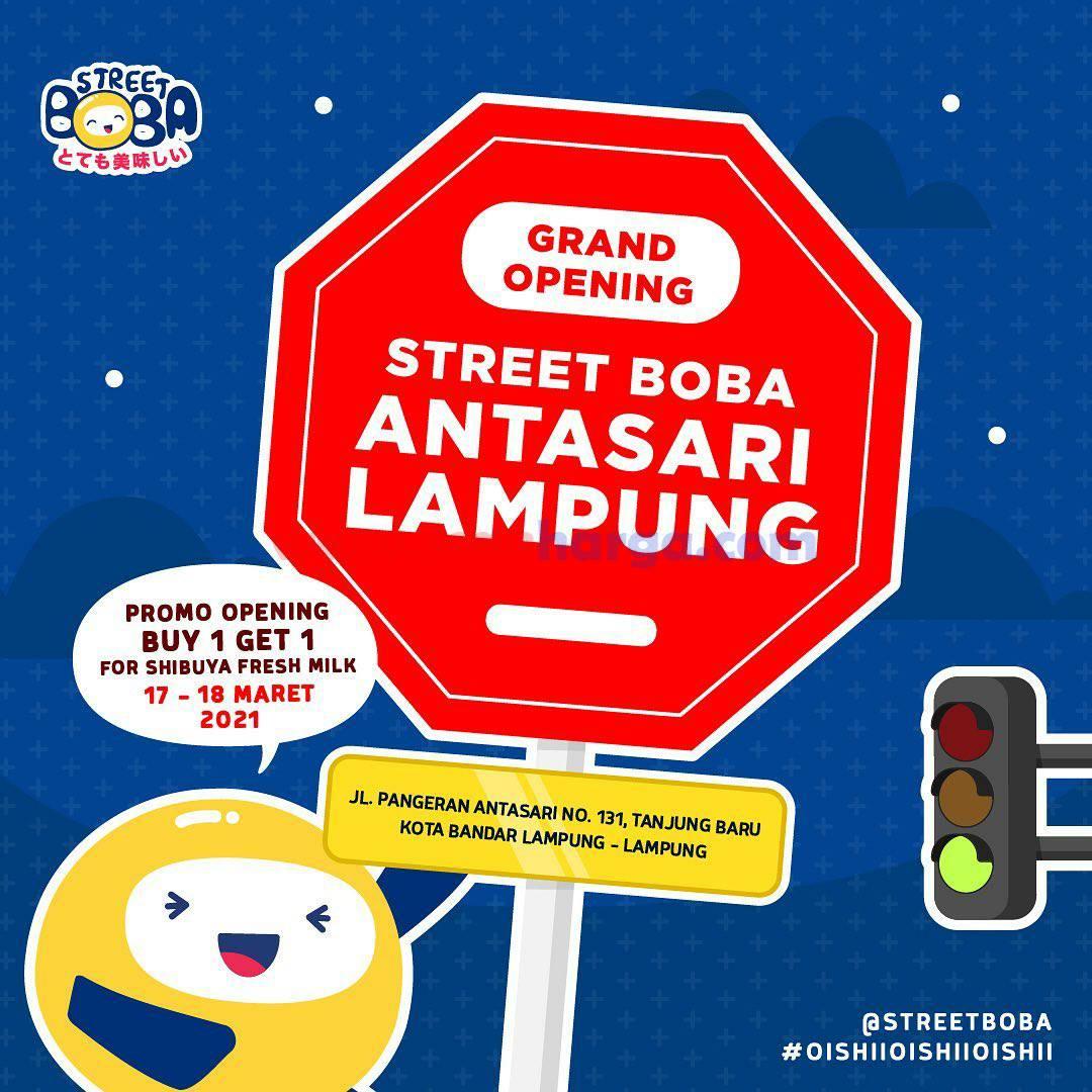 STREET BOBA Antasari Lampung Grand Opening Promo Beli 1 Gratis 1
