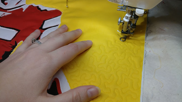 Tiny meandering quilting