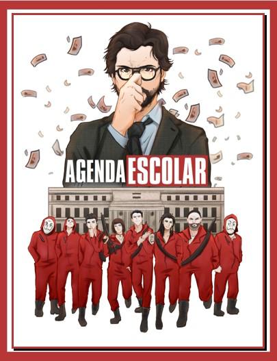Agenda Escolar Editable Casa de Papel