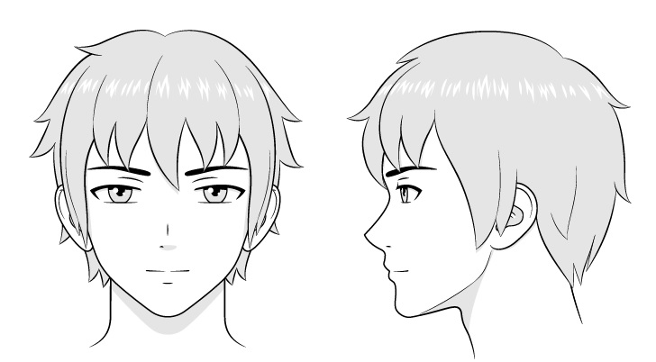 Gambar wajah pria anime