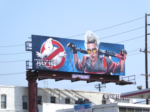 Kate McKinnon Ghostbusters movie billboard