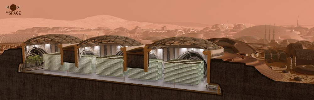 Underground Mars colony for 1000 people by InnSpace team for Mars Colony Prize contest