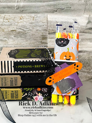 Halloween is just around the corner and it's time to start thinking about some quick and easy treats.  I used the Clever Cats Stamp Set today.