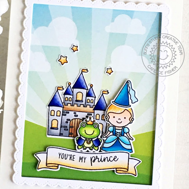 Sunny Studio Stamps: Enchanted Banner Basics Everyday Card by Candice Fisher