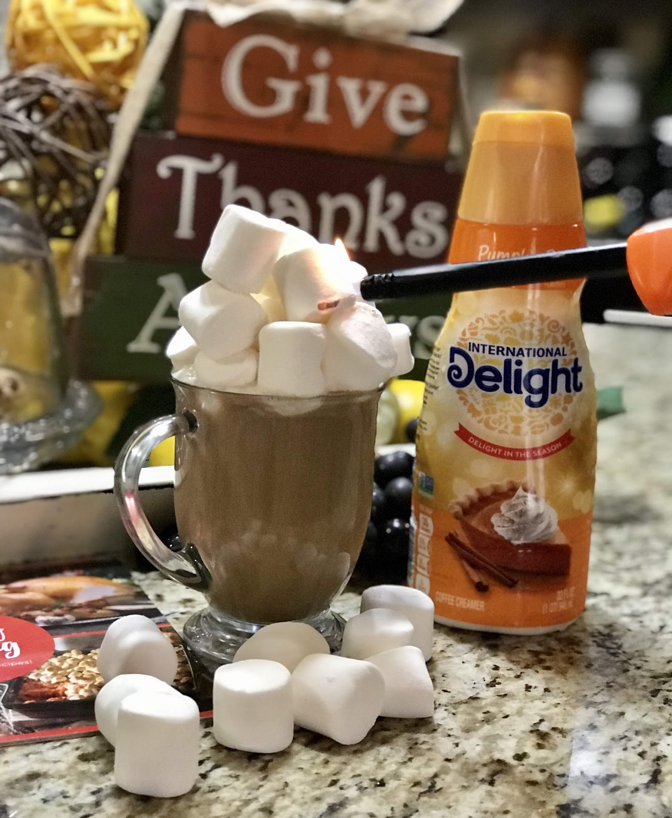 Add marshmellows to make pumpkin pie coffee. Make These Three Coffees: Do Not Do The Third One - It's Ugly!
