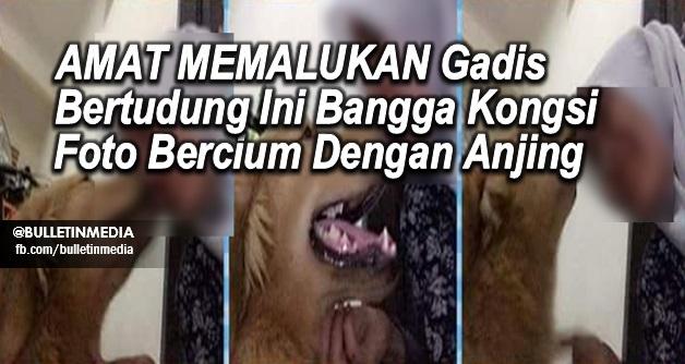 Astaghfirullah Alazimm!! AMAT MEMALUKAN Gadis Bertudung Ini Bangga Kongsi 5 Foto Bercium Dengan Anjing