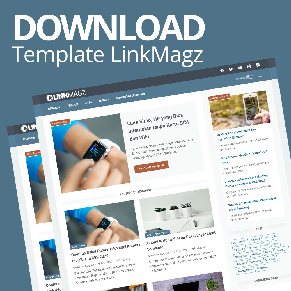 Download Template LinkMagz Sugeng.id