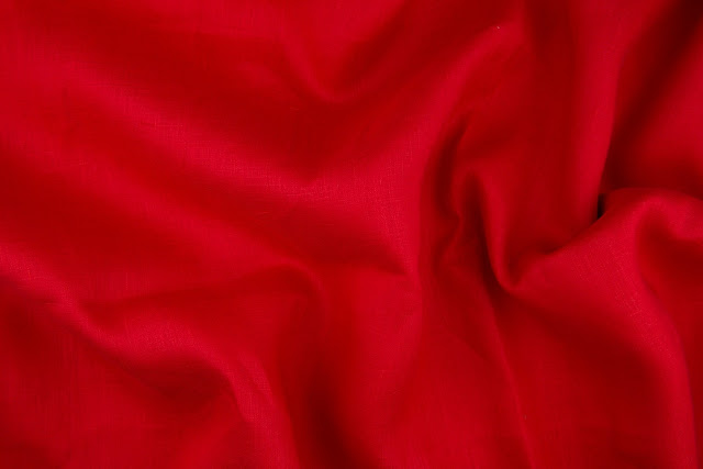 Red Handkerchief Linen Fabric