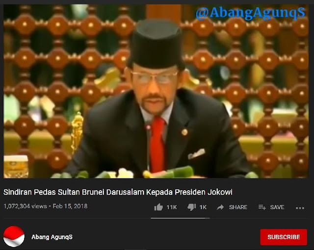 Duh, Sultan Brunei Sindir Jokowi Pemimpin Mabuk Kuasa, Ini Faktanya
