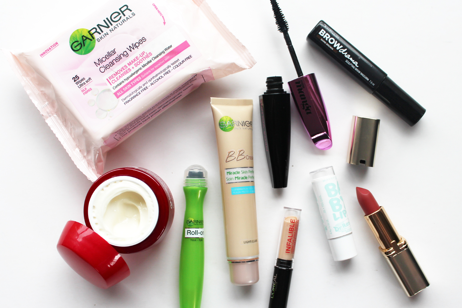 LONG HAUL IN-FLIGHT BEAUTY - Garnier, L'Oreal + Maybelline - CassandraMyee