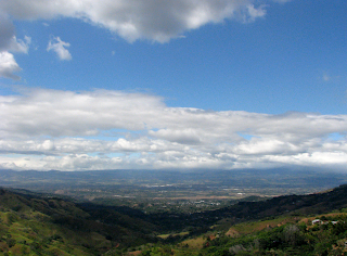 Costa Rica Central Valley View