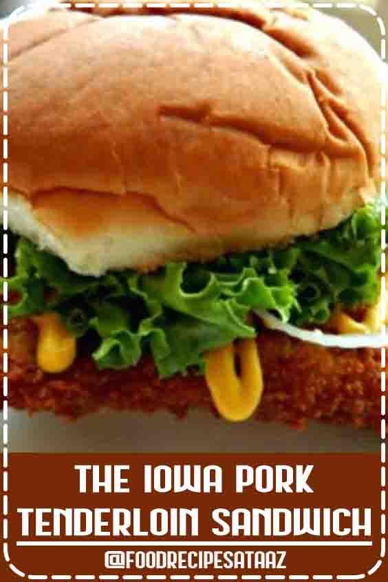 4.5 ★★★★★ | The classic Iowa Pork Tenderloin Sandwich; this one would do a diner proud! #PorkSandwich #Tenderlo