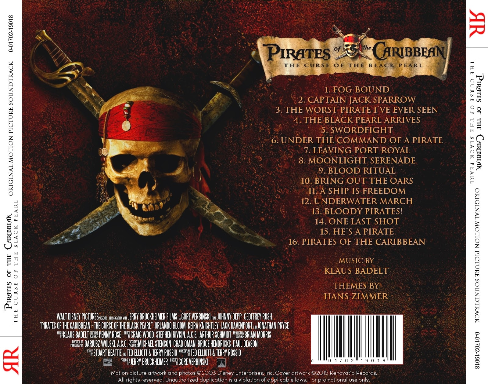 Renovatio Records: Pirates of the Caribbean: The Curse of