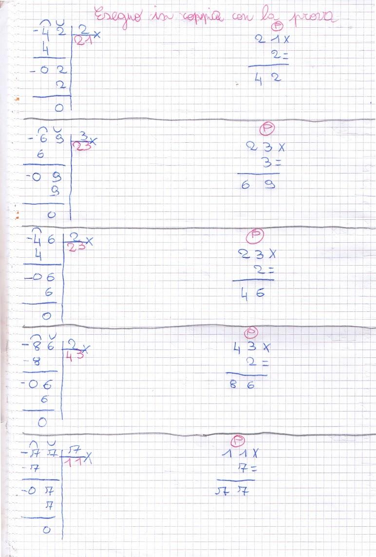 Famoso didattica matematica scuola primaria: Divisioni in colonna (parte  EB72