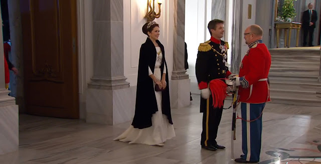 Danish Royal arrive for the annual New Years Day gala held at Amalienborg Palace