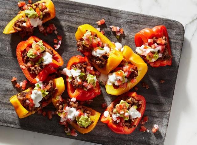 Bell Pepper Nachos #keto #lowcarb