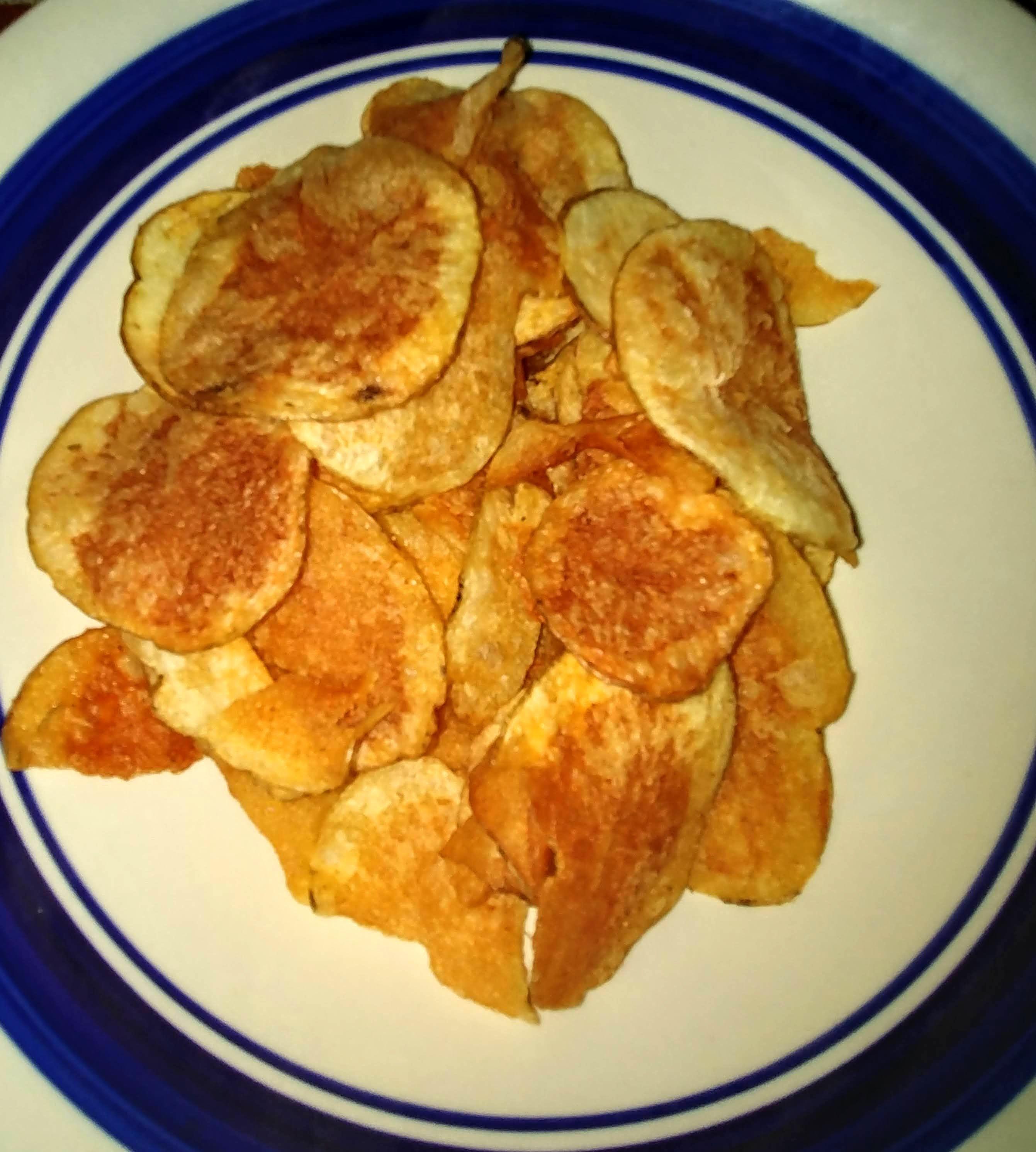 Hand cut fresh potato chips