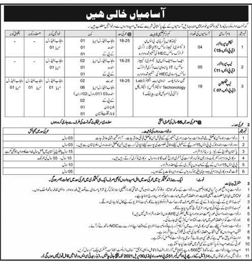 Public Sector Organization Jobs 2021 in Peshawar KPK - Public Sector Organization Jobs 2021